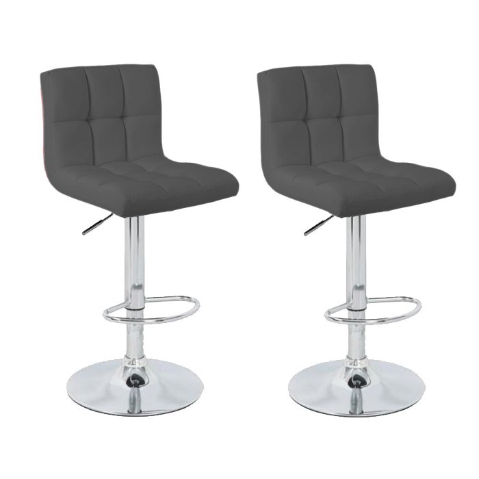 lot de 2 tabourets de bar elegant gris chaise de bar chaise tabouret. Black Bedroom Furniture Sets. Home Design Ideas
