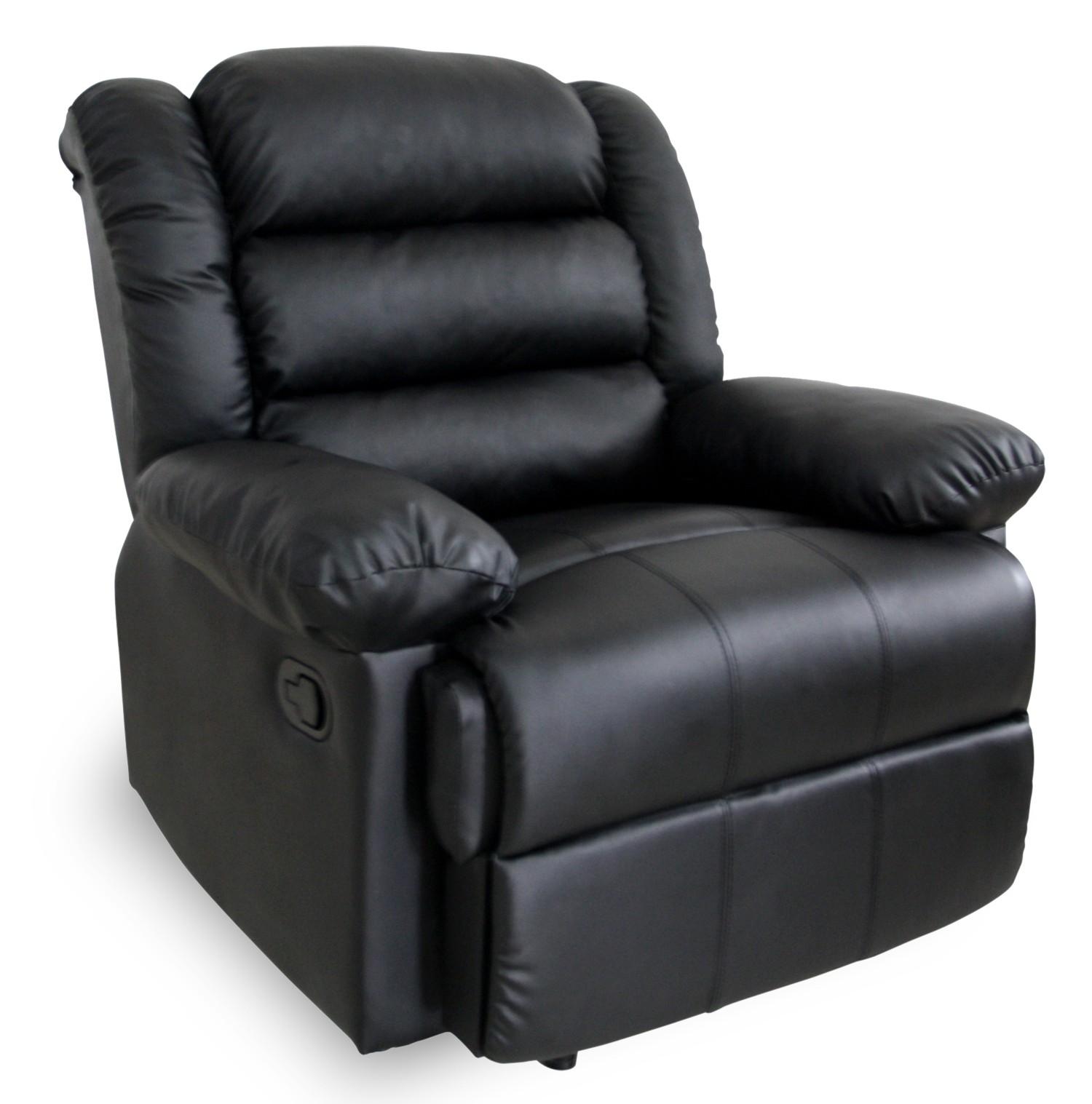 fauteuil de relaxation manuel norton noir. Black Bedroom Furniture Sets. Home Design Ideas