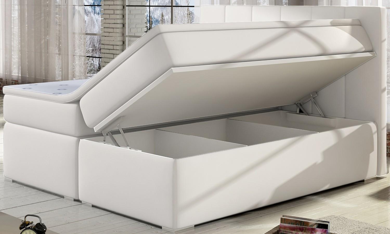 lit coffre luxury 180cm blanc. Black Bedroom Furniture Sets. Home Design Ideas