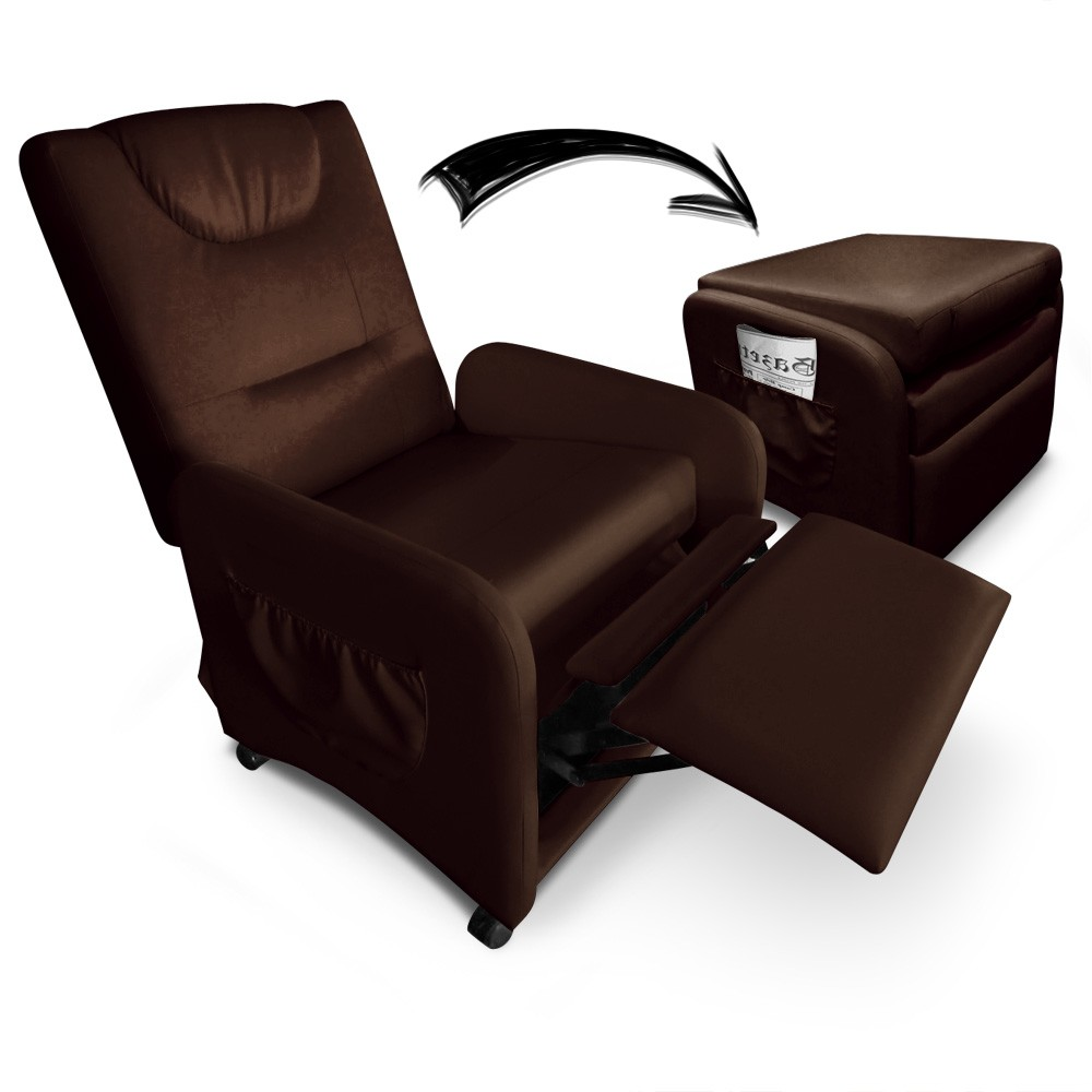 fauteuil relax pliable bristol marron. Black Bedroom Furniture Sets. Home Design Ideas