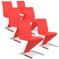 Lot de 6 chaises design Delano Rouge