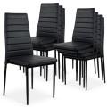 Lot de 8 chaises Strip empilables Noir