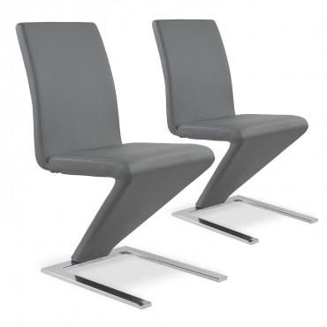 Lot de 2 chaises design Delano Gris