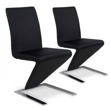 Lot de 2 chaises design Delano Noir