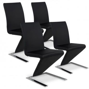 Lot de 4 chaises design Delano Noir