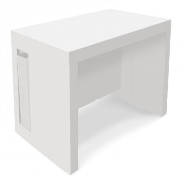 Table Console extensible Loki Blanc laqué