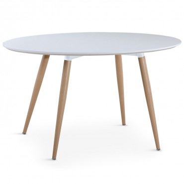 Table ovale scandinave Lunea Blanc