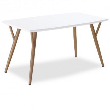 Table style scandinave Mya Blanc - 4 à 6 personnes