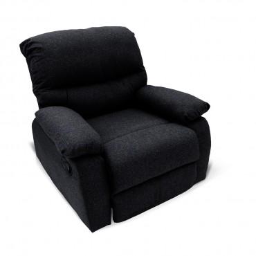 Fauteuil relax manuel Omis tissu Noir