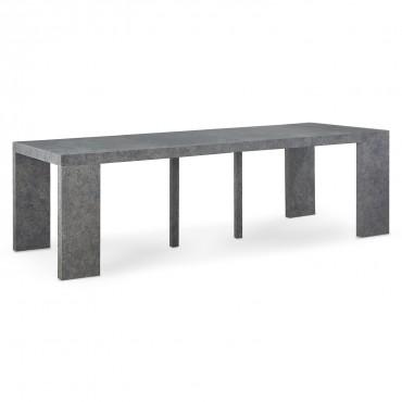 Table Console Extensible Oxalys XL effet béton Gris