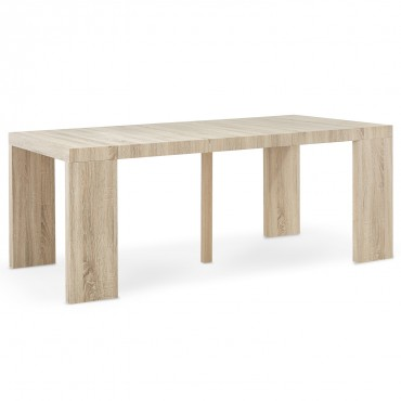 Table Console Extensible Oxalys Chêne Clair