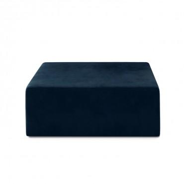 Pouf Carré XL Soren Velours Bleu Foncé