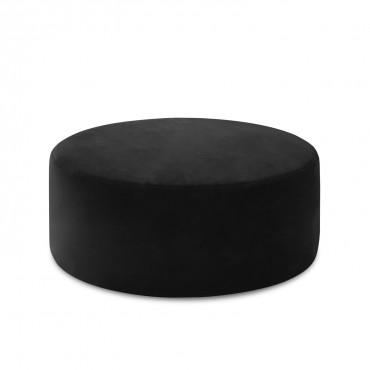Pouf Rond XL Marki Velours Noir