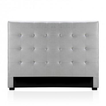 Tête de lit capitonnée Premium 160cm Argent