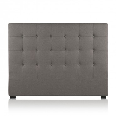 Tête de lit capitonnée Premium Tissu 160cm Taupe