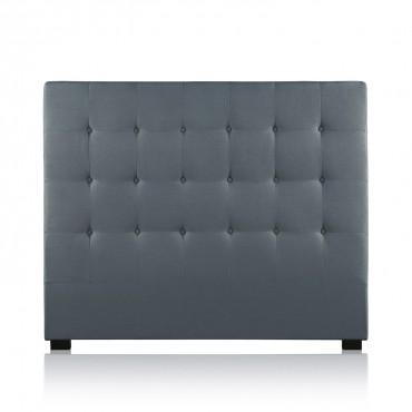 Tête de lit capitonnée Premium Tissu 140cm Gris
