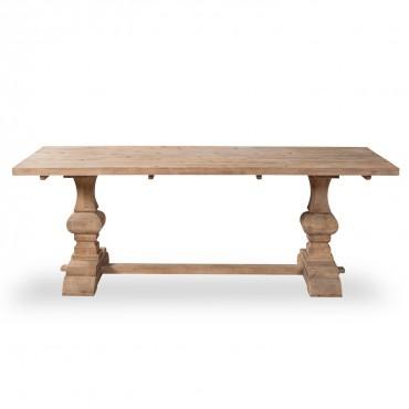 Table en pin vieilli LUBERON style monastère naturel