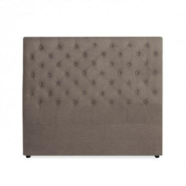 Tête de lit capitonnée Constance 140cm Tissu Taupe