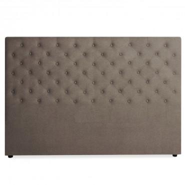 Tête de lit capitonnée Constance 180cm Tissu Taupe