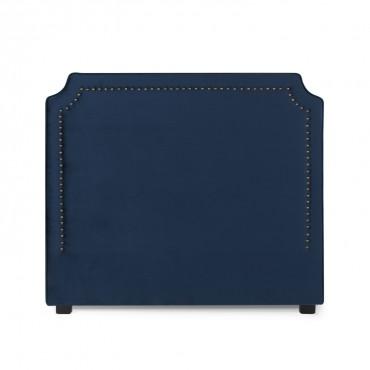 Tête de lit Diana Velours 140cm Bleu Foncé
