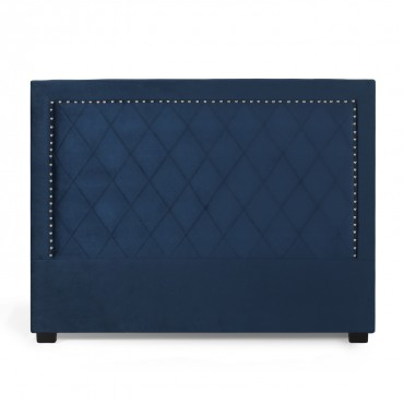 Tête de lit Nolwen Velours Bleu Foncé 160cm