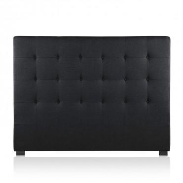 Tête de lit capitonnée Premium Tissu 160cm Noir