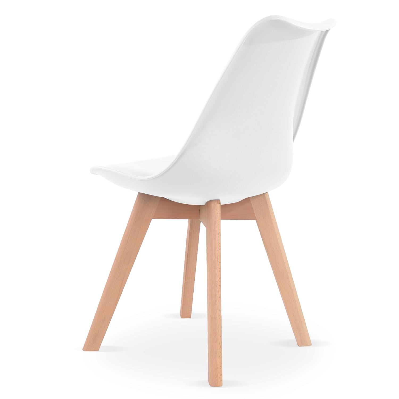 Blanc de Catherina scandinave Lot chaises style 8 jL5AR4