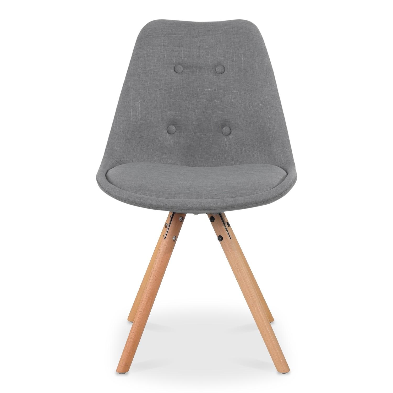 Lot 4 tissu Gris scandinaves de chaises Frida roxBedC