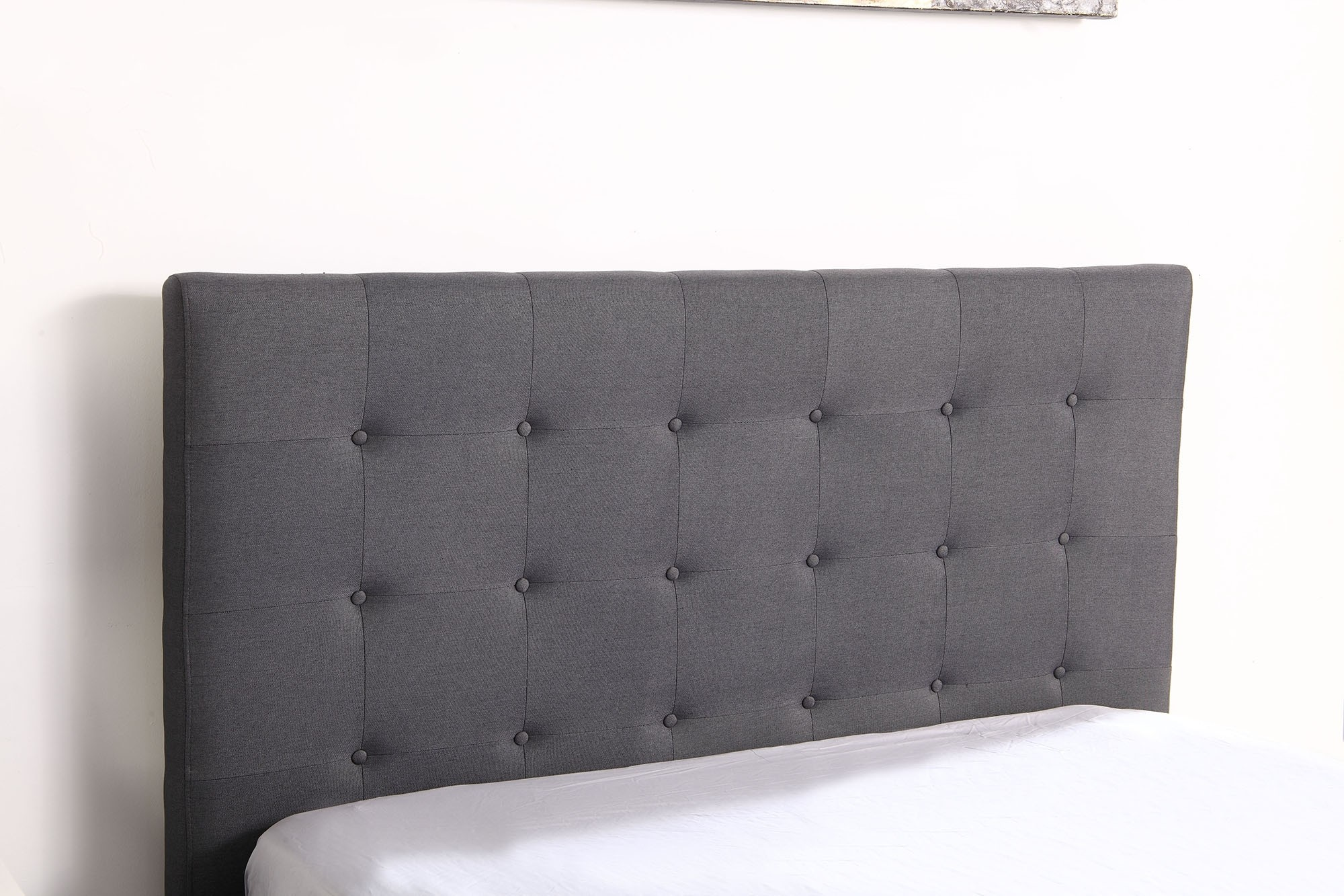 lit coffre layton sommier 160cm tissu gris. Black Bedroom Furniture Sets. Home Design Ideas