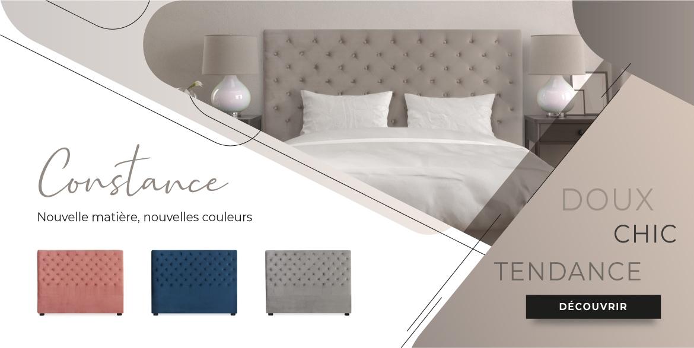 Tête de lit Constance en Velours
